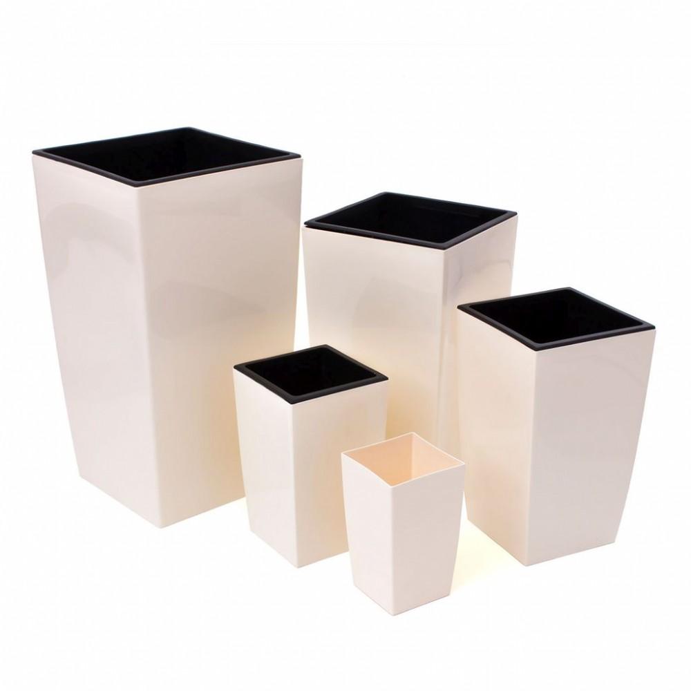 pflanzk bel coubi blumentopf pflanzbeh lter mit einsatz viereckig 17l gr n duw240. Black Bedroom Furniture Sets. Home Design Ideas