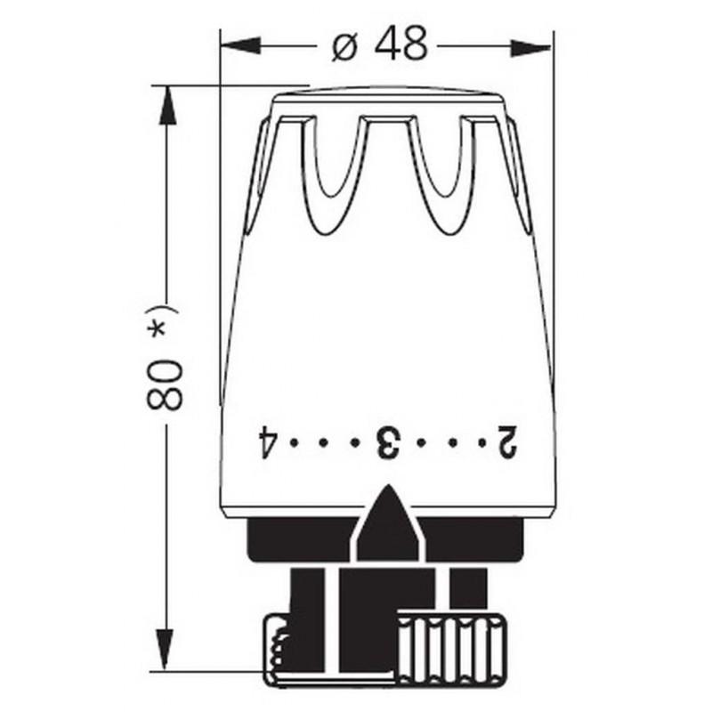 Heimeier thermostat kopf dx 6700 wei ral 9016 for Heimeier italia