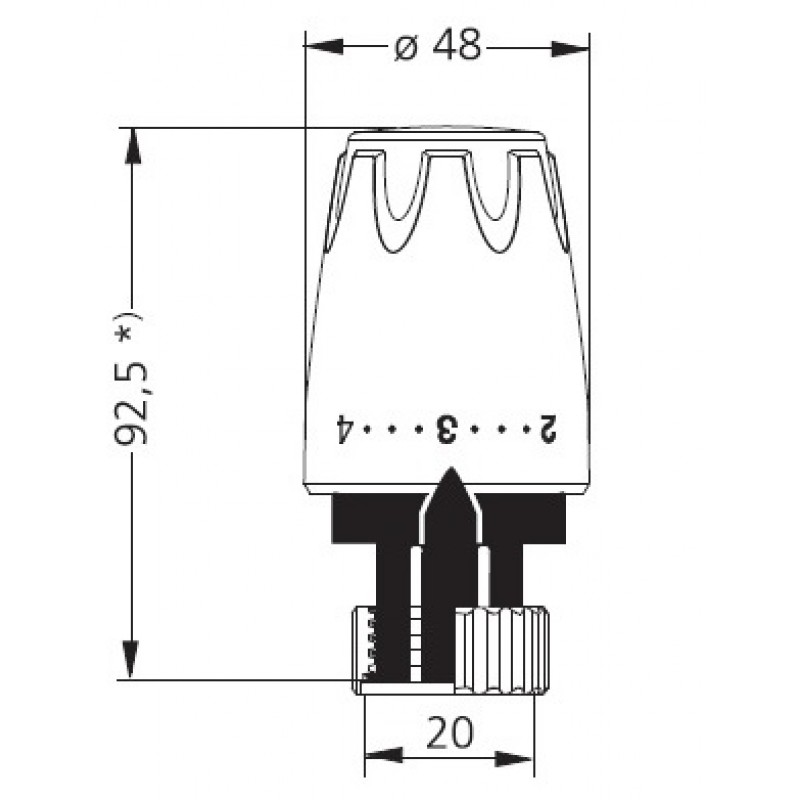 Heimeier thermostat kopf dx 9724 mit direkter anschluss for Heimeier italia